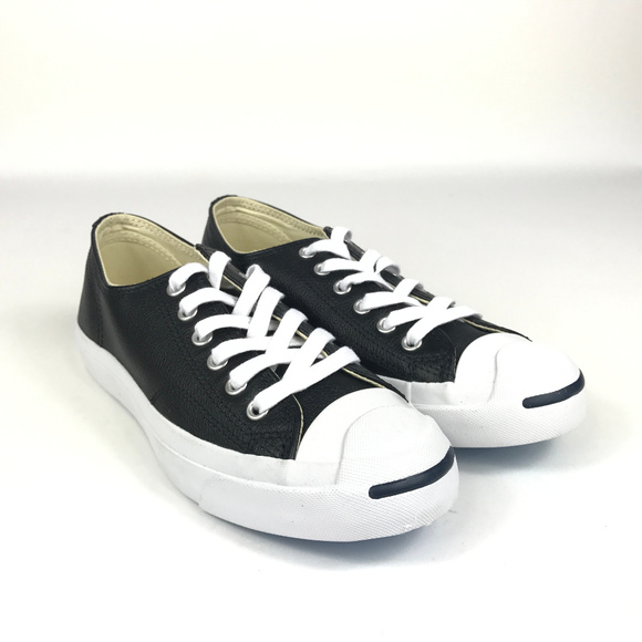 c6fbce3fe724 Jack Purcell Leather OX 1S962 Black White. NWT. Converse